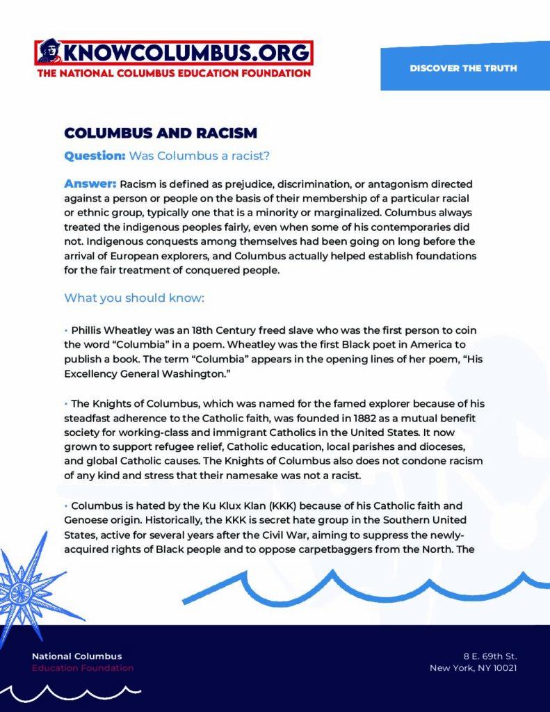 Columbus & Racism